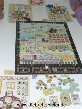 Der Spielplan von Trajan.