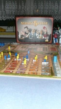 Zwei Bilder aus einer Partie Machtspiele zu zweit mit den bekannten Regeländerungen