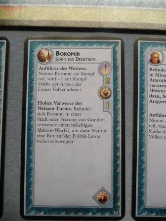 Die Personenkarte von Boromir