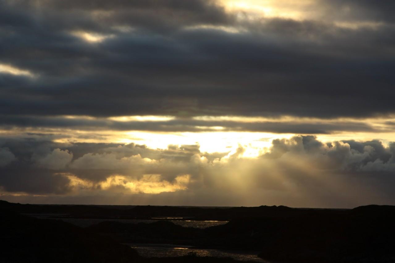 coucher de soleil de minuit a Andenes en norvège
