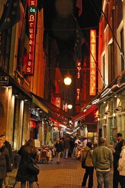 rue de l'Étuve la nuit