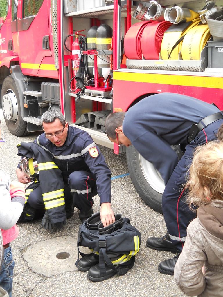 La tenue des pompiers.