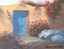 """Sai. Nghệ sỹ vẽ cửa đóng tạo cảm giác bảo người xem """"đi chỗ khác chơi""""."""
