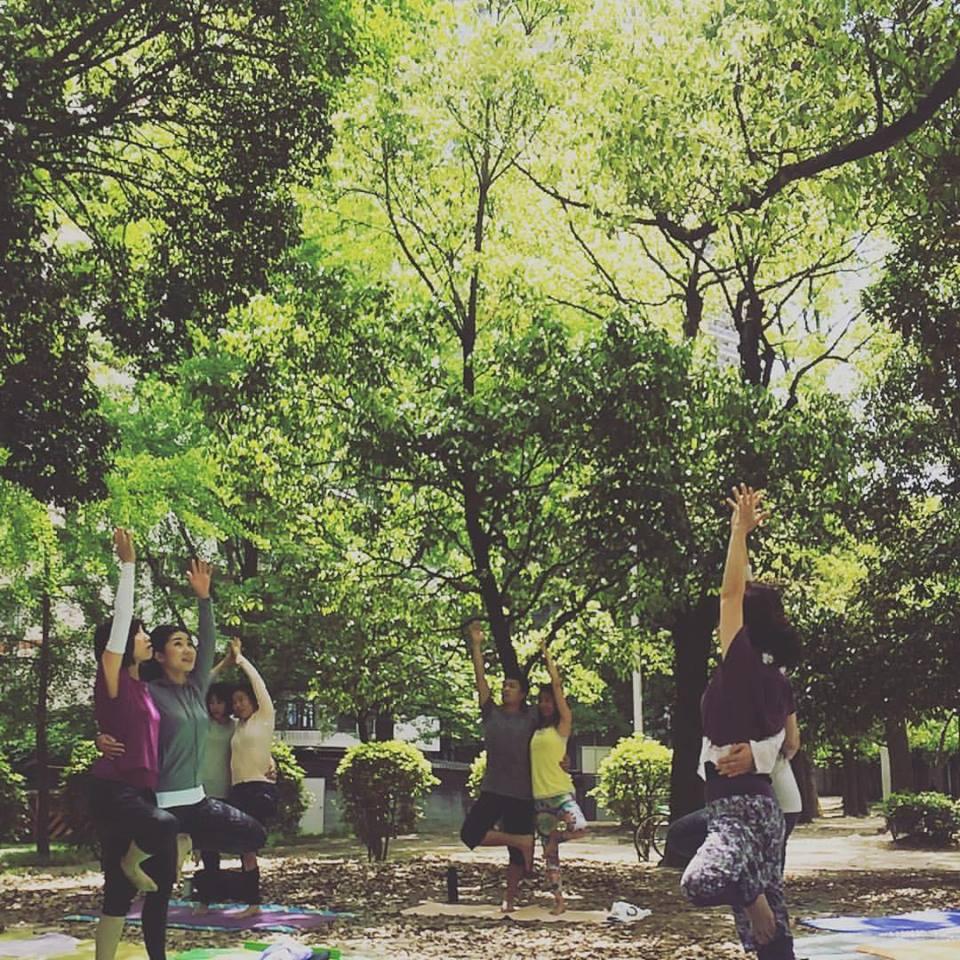 2017.5 ParkYoga緑の中で深呼吸