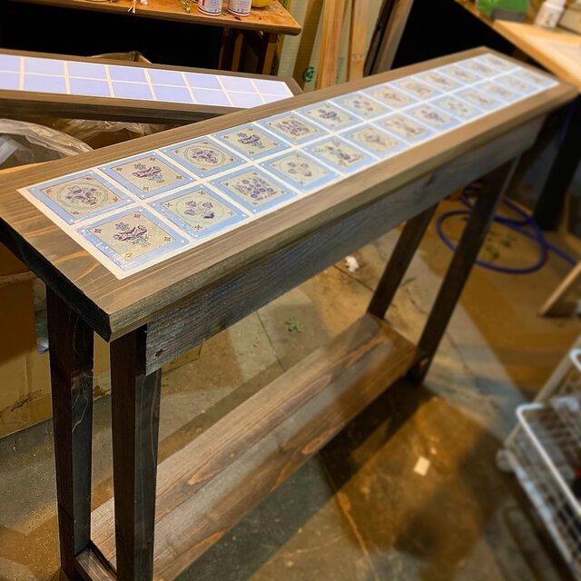 アンティークタイルテーブル