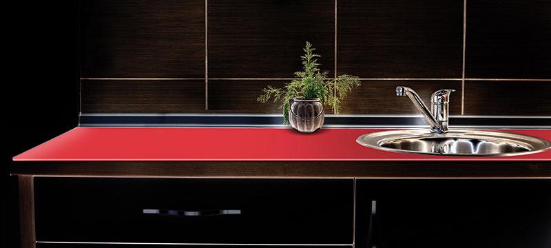 K chenarbeitsplatten aus glas culina luce for Kuchenarbeitsplatte glas