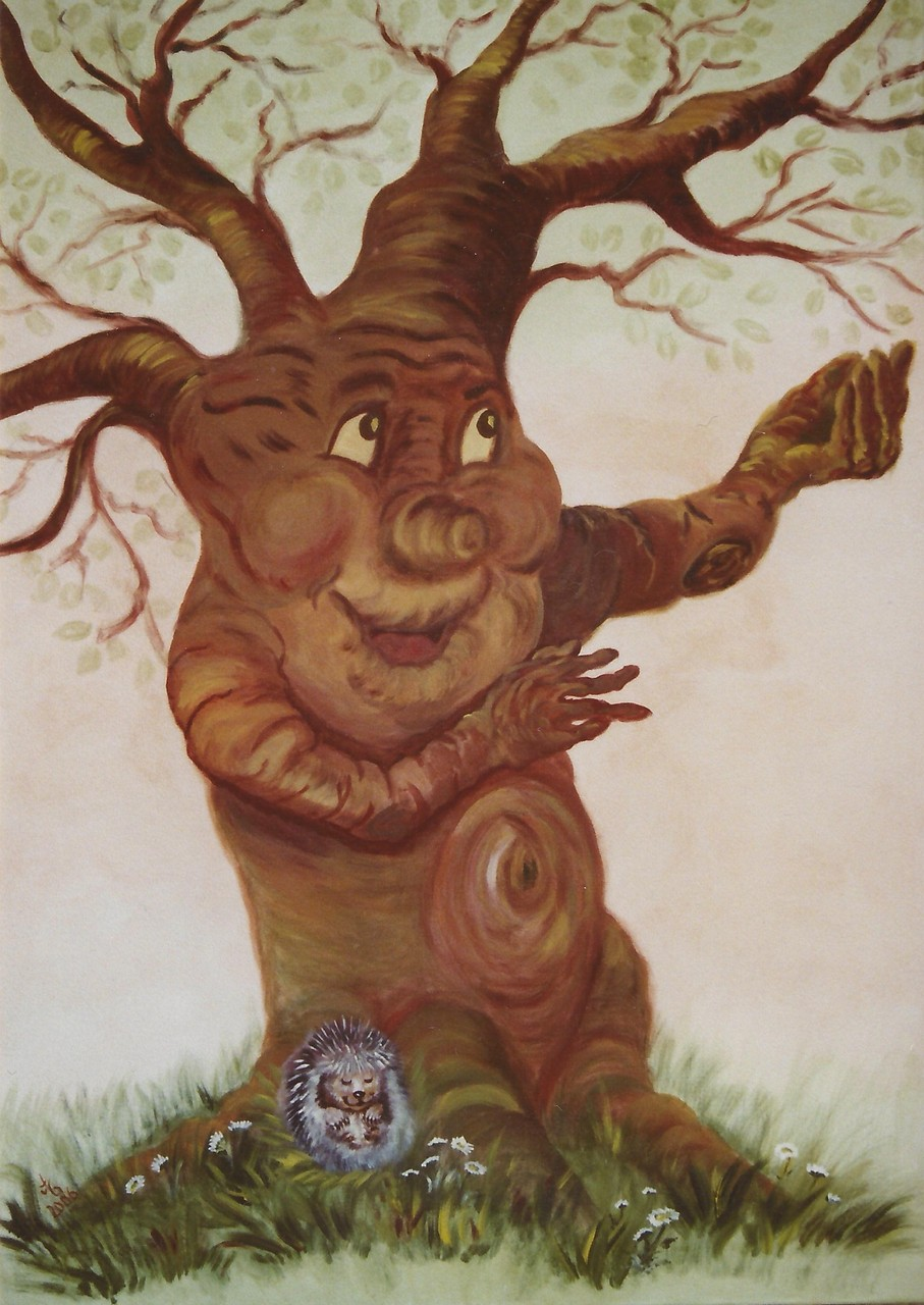 Märchenbaum, 2006, Acryl auf Leinwand, 150*100 cm