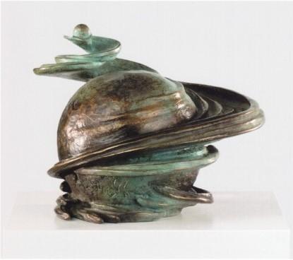 GEBURT UND TOD / TOD UND GEBURT 2000, Bronze, Höhe 24 cm
