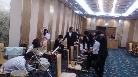 高崎ビューホテルにてひらかれた合同親睦例会での演奏の機会を頂くことが出来ました!小編成での演奏機会が多くあり、当部としてもスキルアップの場となりました。