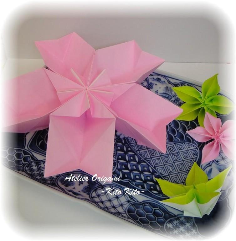 """L'origami """"Panier fleur de cerisier"""""""