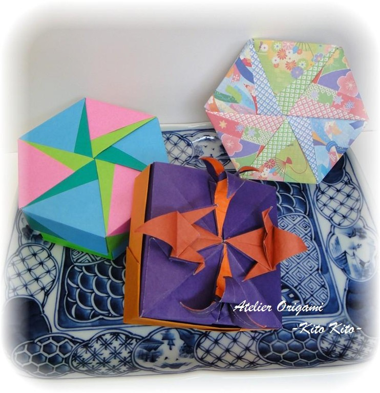 Boîtes de l'origami