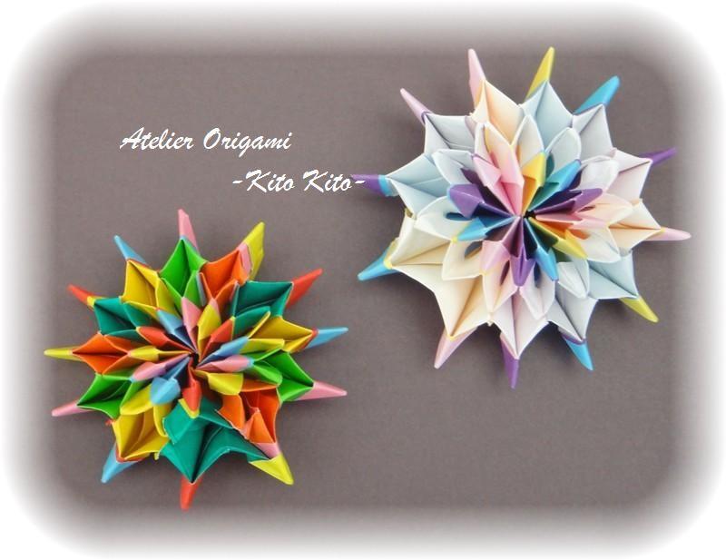 "L'origami ""Feu d'artifice ( HANABI)"""