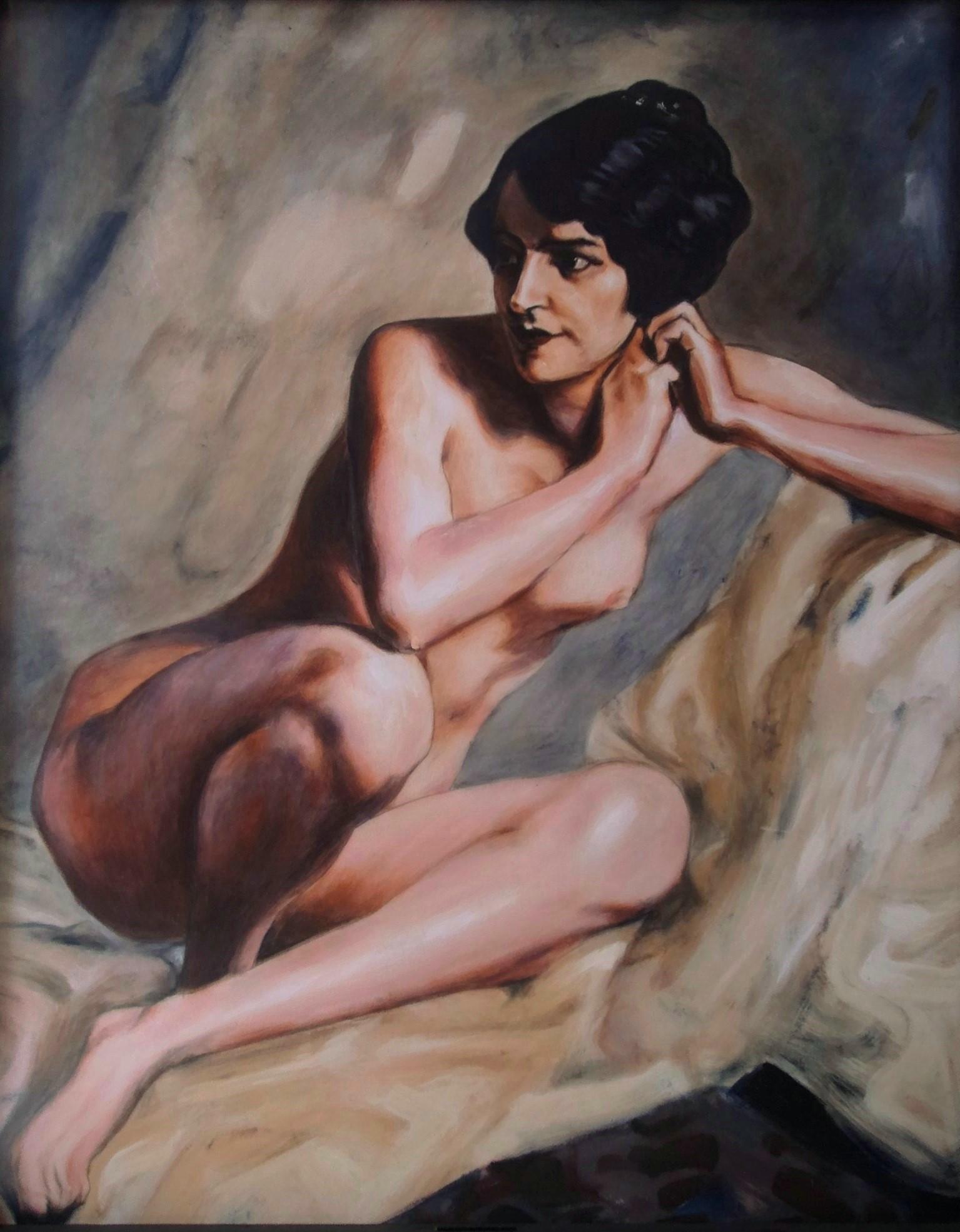 Kopie nach A. von Keller, Akryl auf Holz, 92 x 115 cm