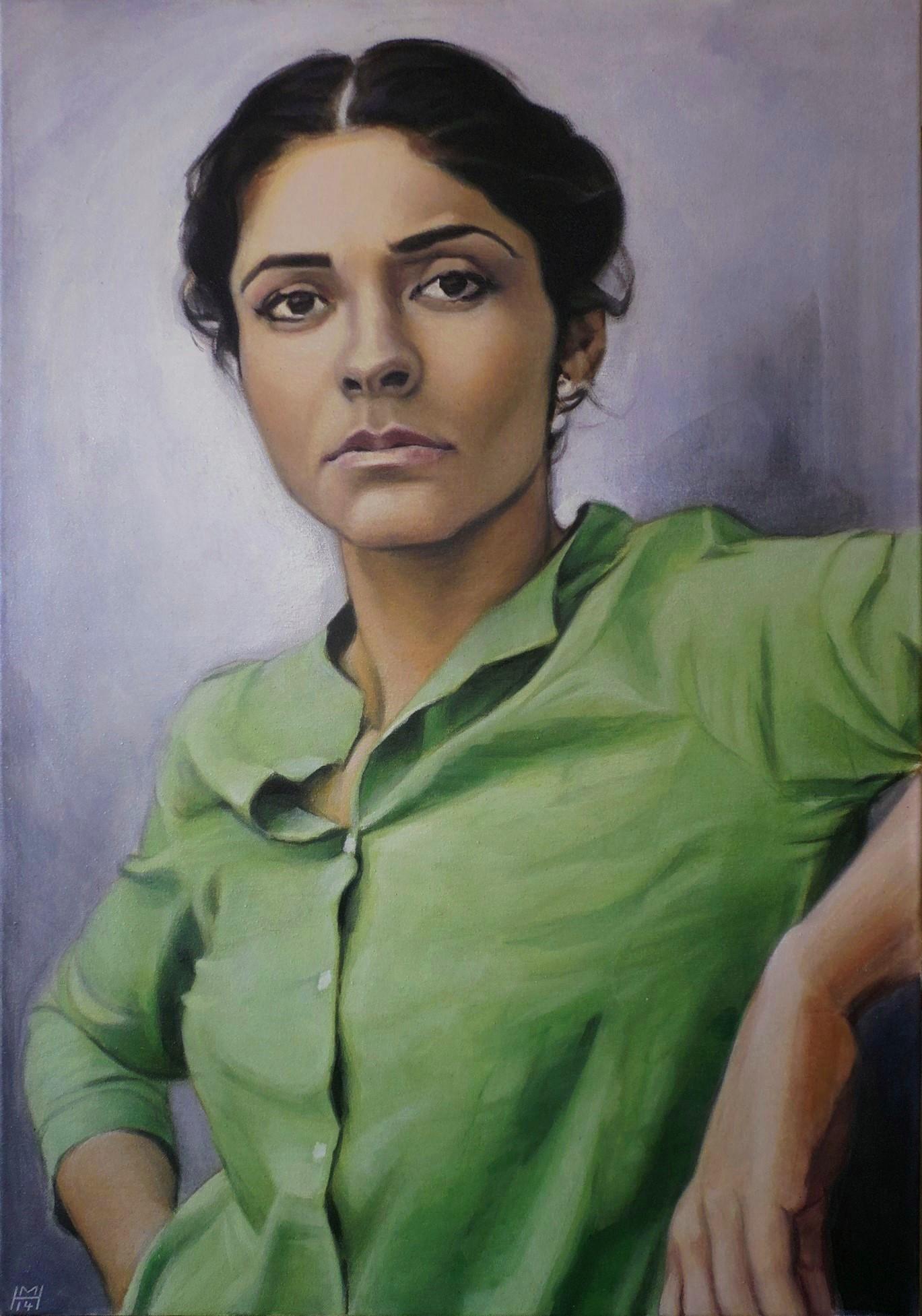 Pegah Ferydoni, Akryl auf Leinwand, 70 x 100 cm
