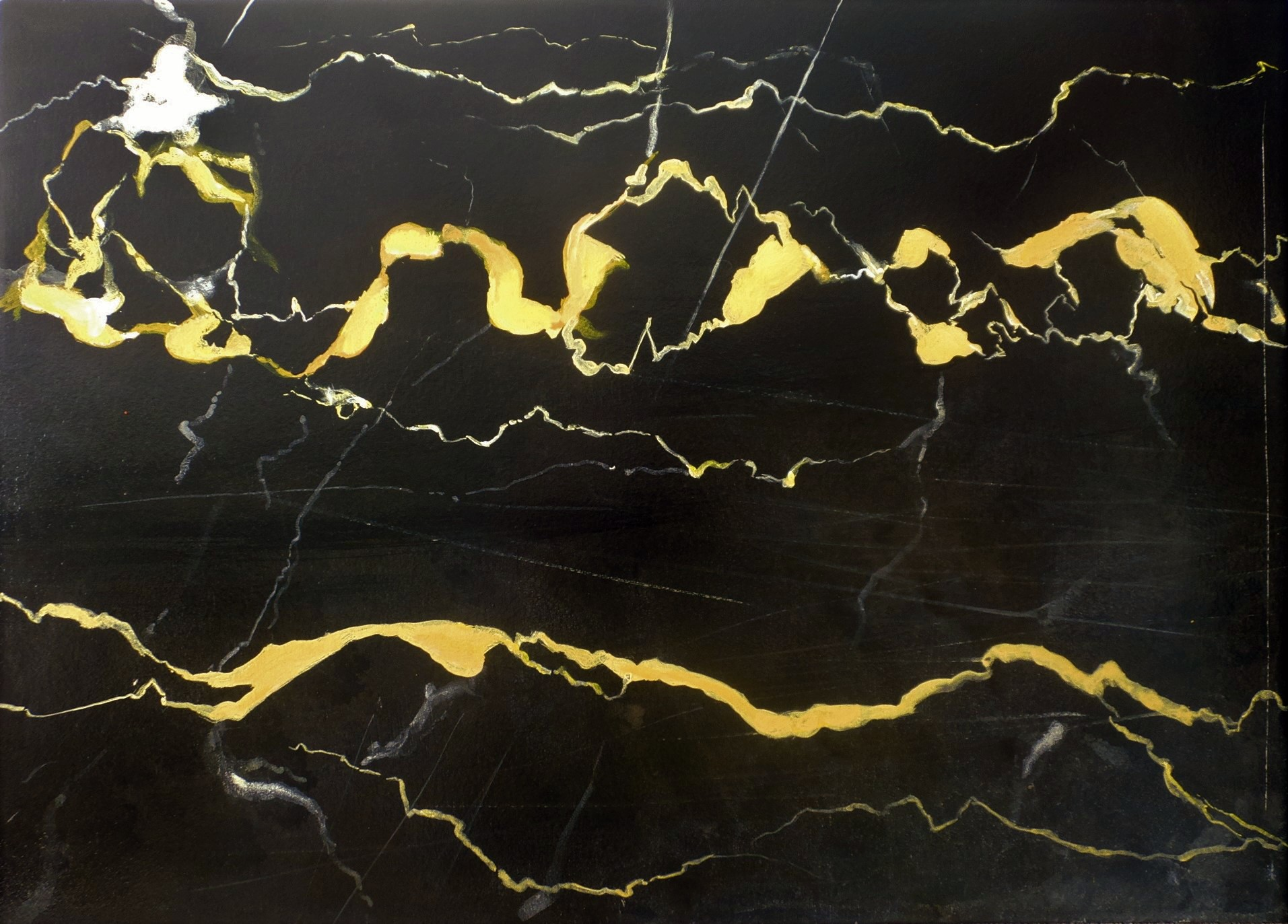 Marmorimitation, Akryl auf Holz, 50 x 70 cm