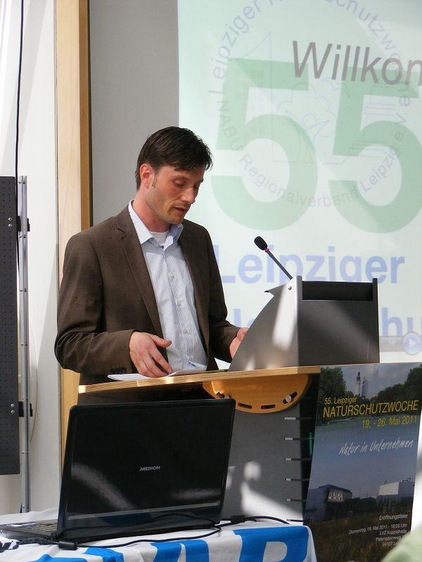 19.05.2011, LVZ Kuppelhalle - Eröffnung der 55. Leipziger Naturschutzwoche durch den Beigeordneten für Umwelt, Ordnung und Sport, Herrn Heiko Rosenthal.