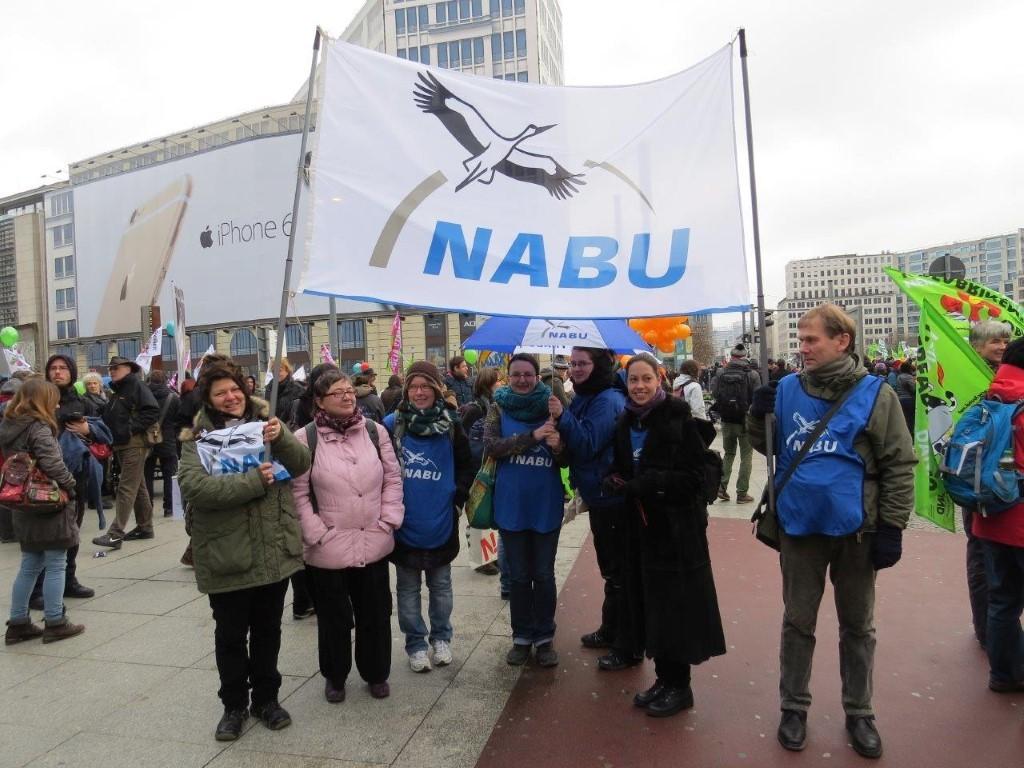 Aus Leipzig angereiste NABU-Mitstreiter.
