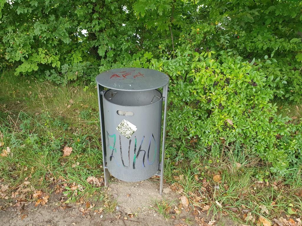 Bleibt leider oft unbenutzt: Der Müllbehälter.<br/>Foto: René Sievert