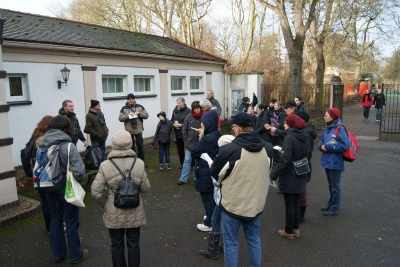 Stunde der Wintervögel auf dem Südfriedhof. Foto: René Sievert