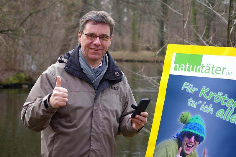 Daumen hoch für Naturtäter.<p/>Foto: Uwe Schroeder