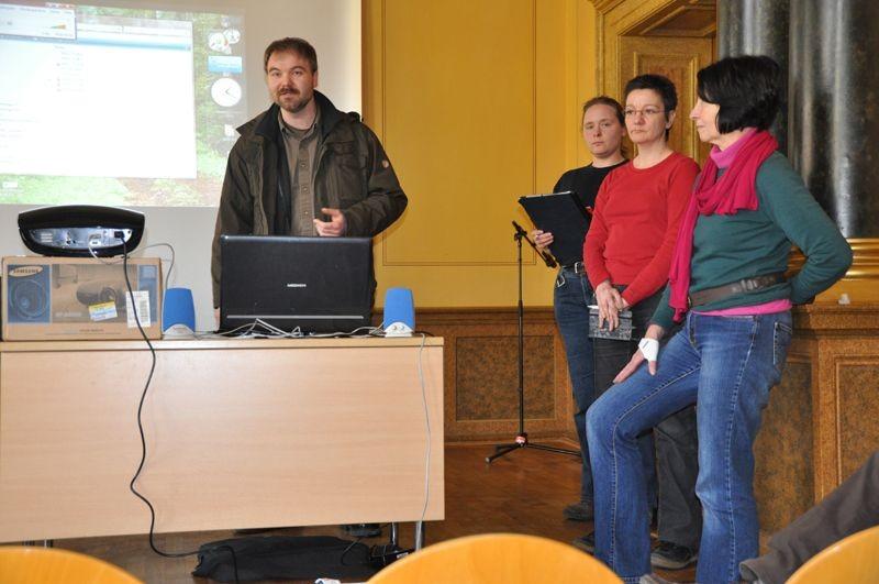 Der neue Vorstand bei der Vorstellung der ersten Arbeitsschwerpunkte.