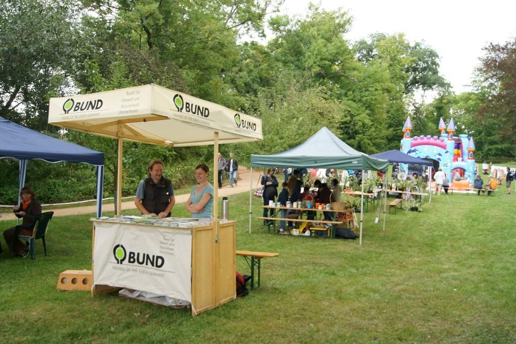 Dabei haben sich auch verschiedene Vereine vorgestellt, darunter der BUND, ... Foto: René Sievert