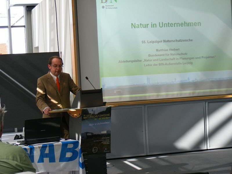 ... bei seinem Fachvortrag zum Thema der Naturschutzwoche.