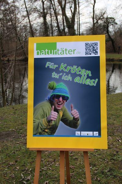 Pfiffige Plakatidee für das Projekt 'Naturtäter'.<p/>Foto: Maria Vitzthum