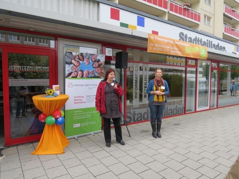 Die Freiwilligenagentur Leipzig veranstaltete den 10. Freiwilligentag zusammen mit fünf Leipziger Vereinen, darunter dem NABU.</p>Foto: Karsten Peterlein