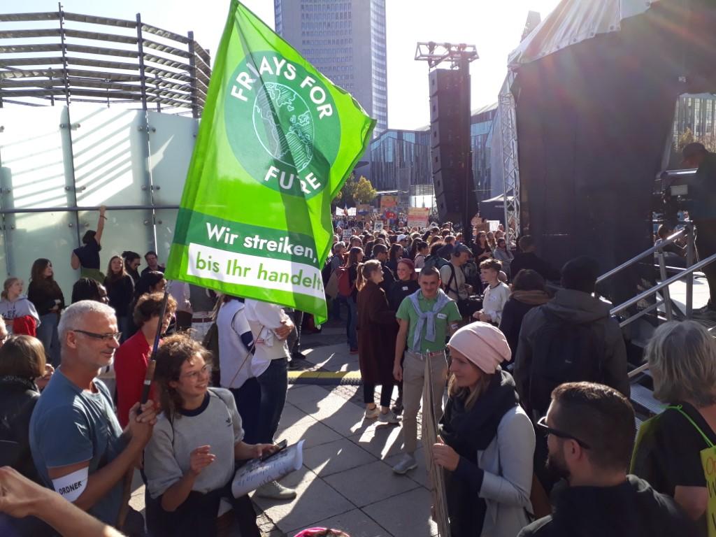Beim globalen Klimastreik wurde Fridays For Future Leipzig von einem breiten gesellschaftlichen Bündnis unterstützt.