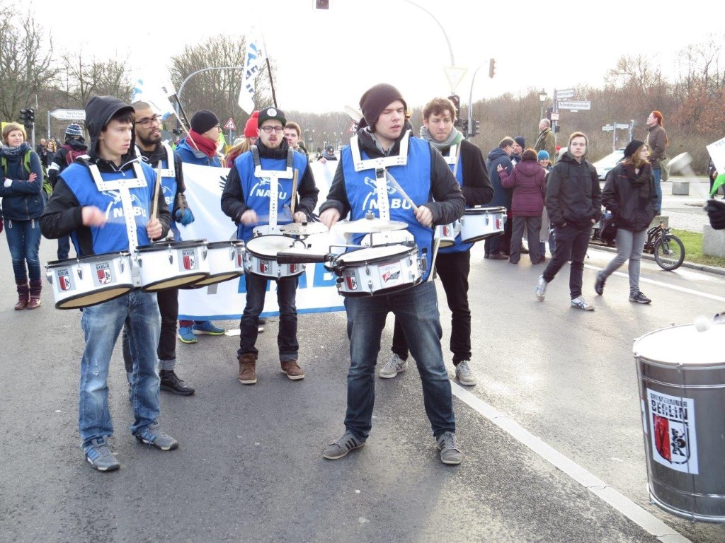 Die NABU-Marching-Band.