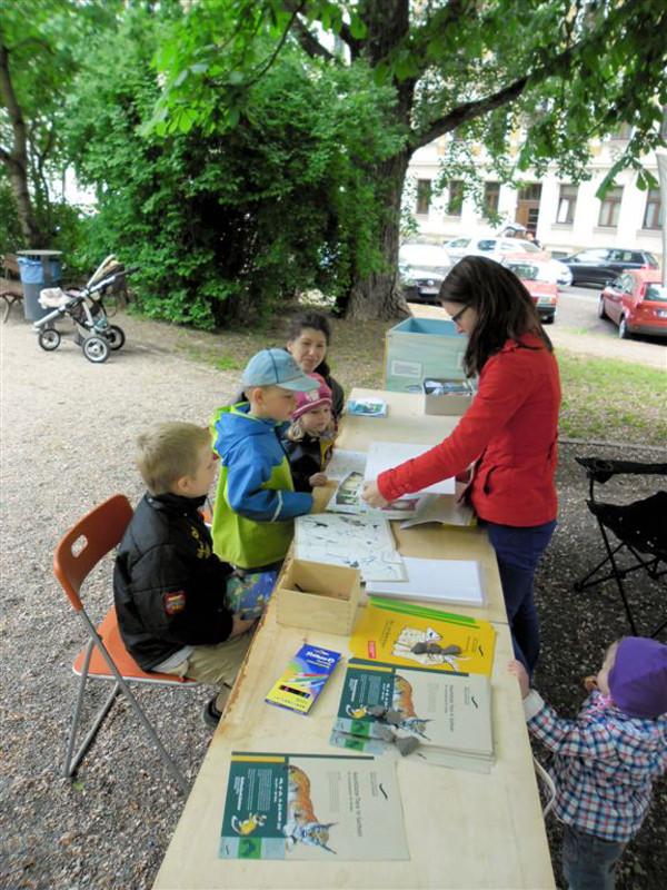 Kinder kamen zum Malen und Basteln. Foto: René Sievert