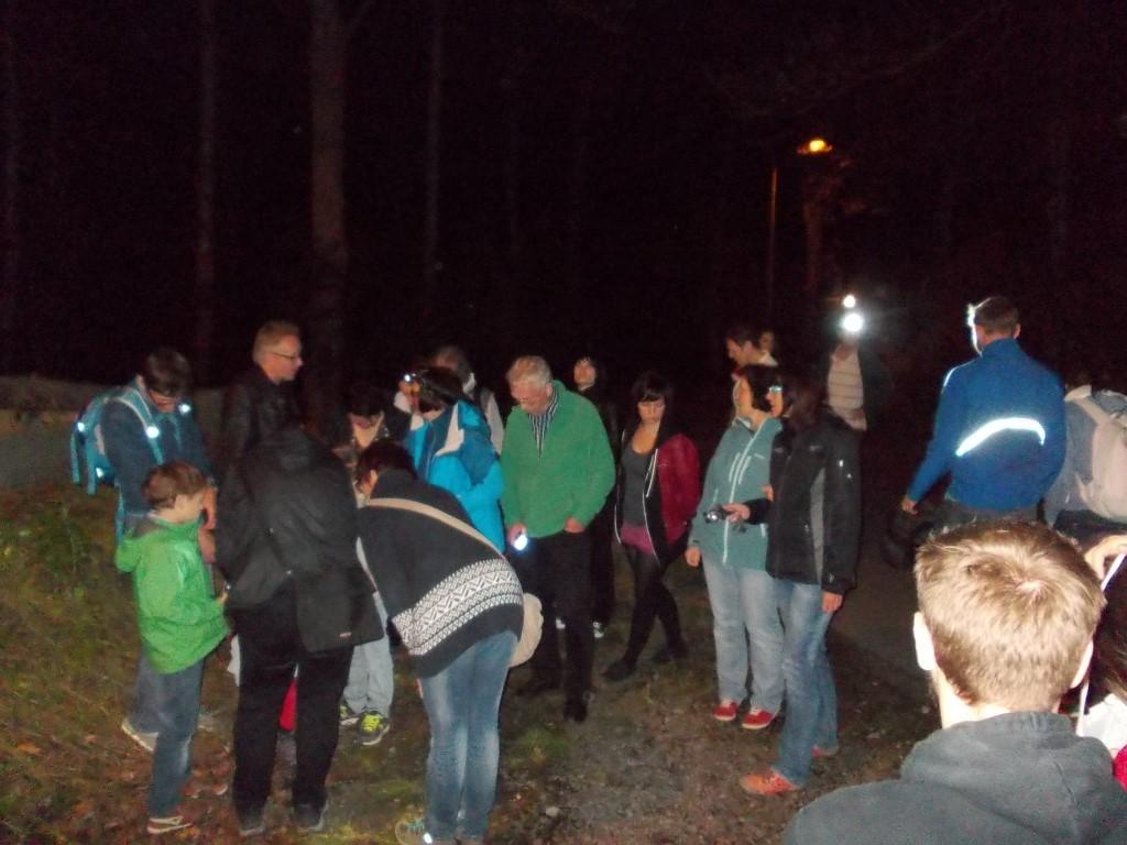 Zum Beginn des StadtNaturErleben gab es eine Nachtwanderung am Wildpark.</p>Foto: René Sievert