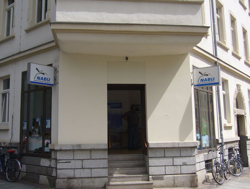 Die neue Geschäftsstelle des NABU-Regionalverbands Leipzig in der Corinthstraße 14. Foto: Claudia Tavares