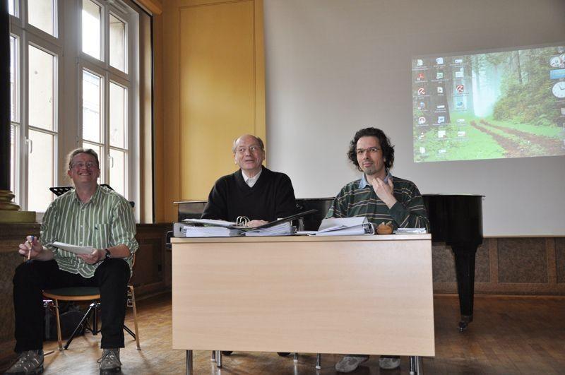 Erhard Berbig (Mitte) trug den Finanzbericht des Vorstands vor.