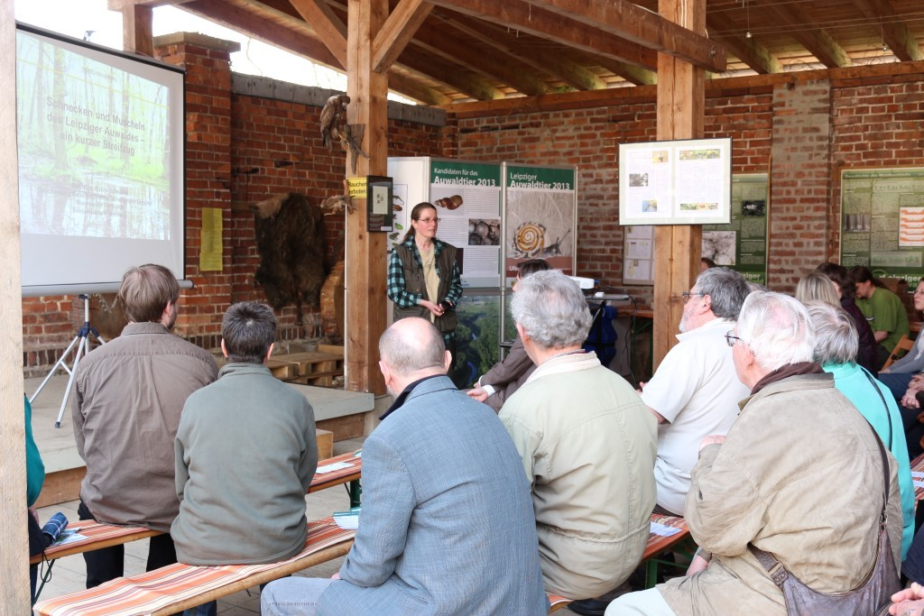 Nach dem Vortrag beantwortete die Biologin Katrin Schniebs Fragen des Publikums. Foto: Maria Vitzthum