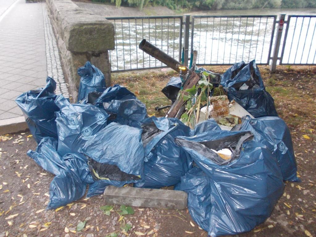 Am Ende kam ein großer Müllhaufen zusammen, der von der Stadtreinigung abgeholt wird.</p>Foto: René Sievert