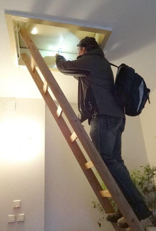 <p>Nicht immer waren die Dachböden einfach zugänglich.</p>Foto: Silvia Fischer
