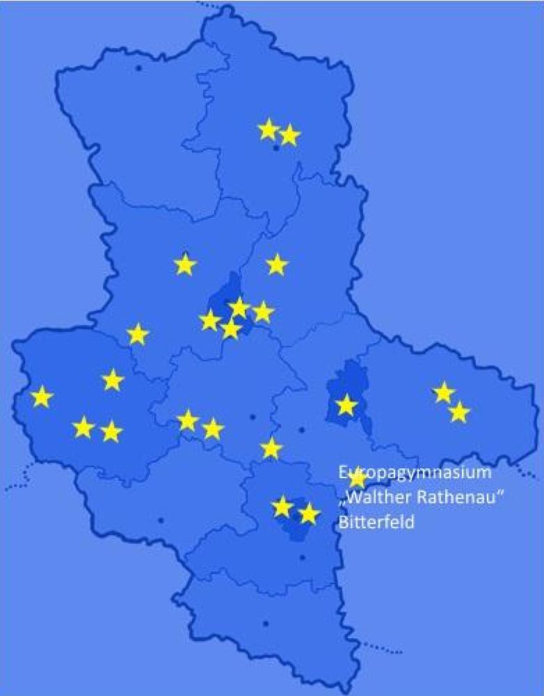 Überblick über die Europaschulen in Sachsen-Anhalt