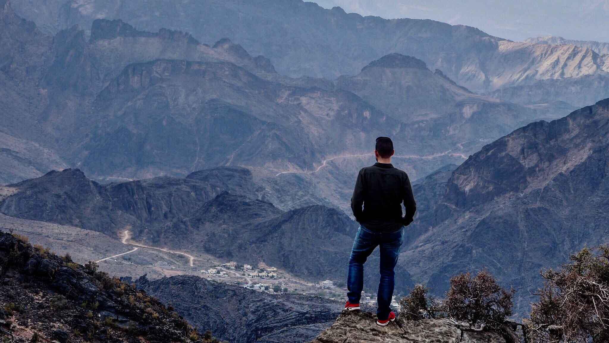 Seul au dessus de Hatt - Oman
