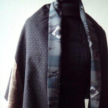 Big wrap etole en laine et soie