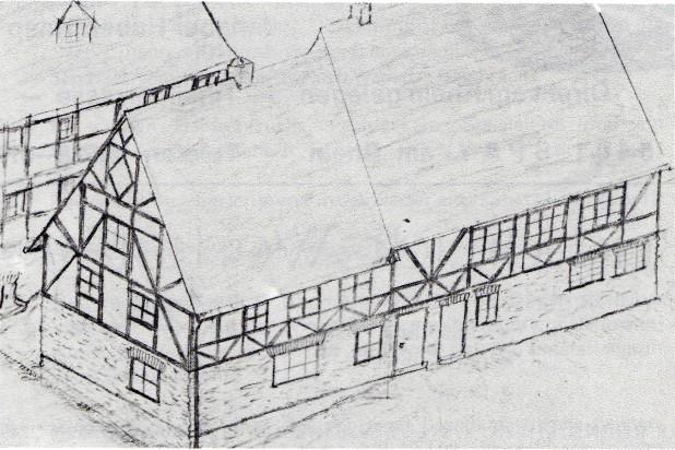 Alte Schule  (Zeichnung von Werner Schuth)