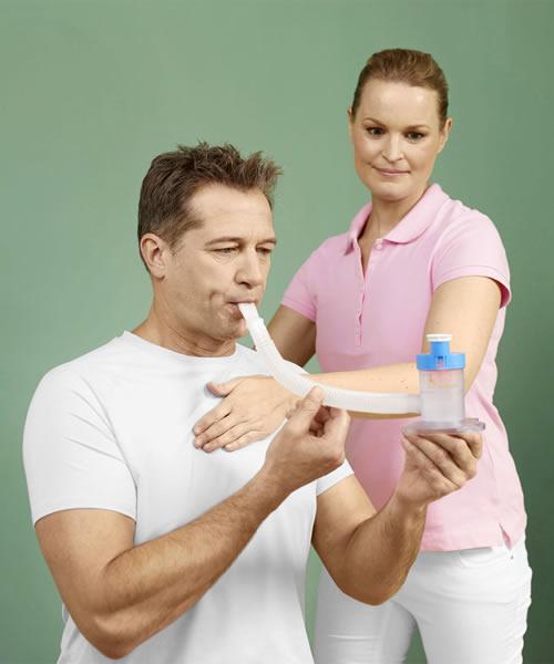 Fitte Lunge mit Atemtrainer
