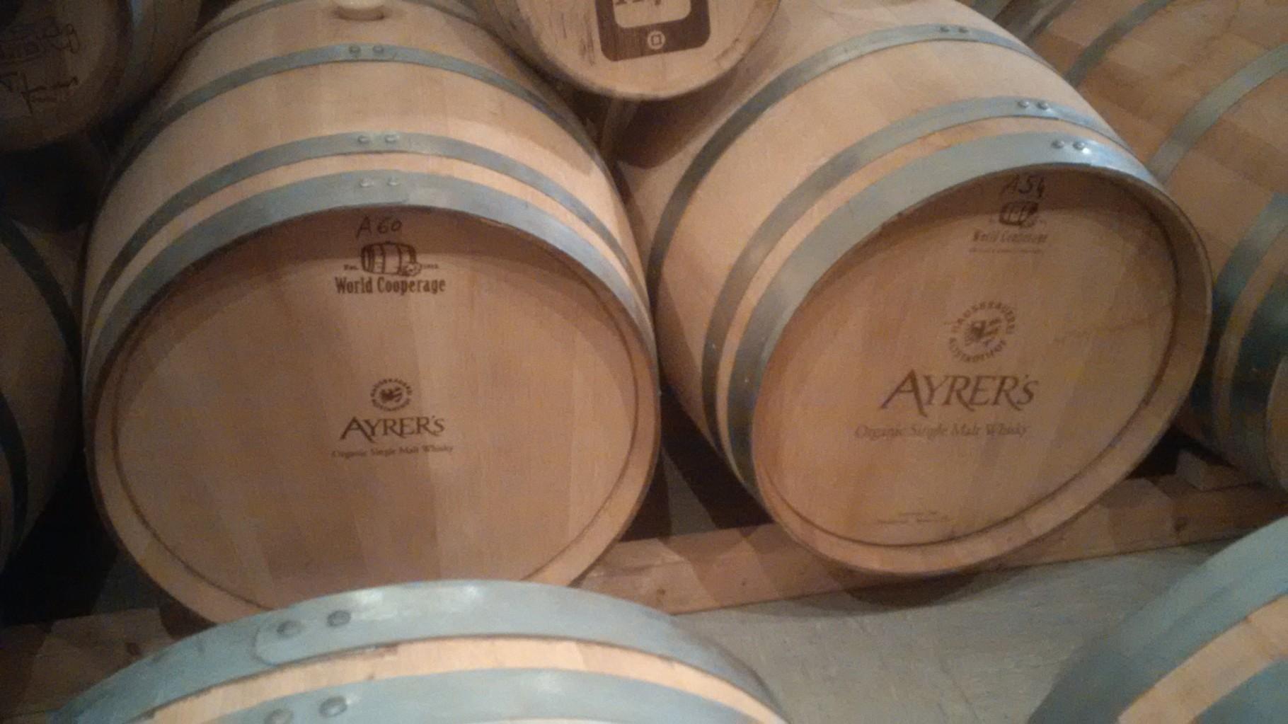 Aus der Biermaische destilierter Whiskey - lagert hier bis zu 30 Jahre bei Familie Ayrer in Nürnberg