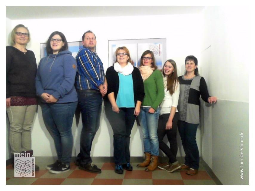 "Wir im ""Ames-Raum"" des Turm der Sinne (http://turmdersinne.de)"
