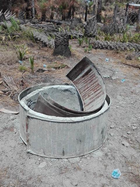 Brunnenbau, Gussform für die Zementrohre