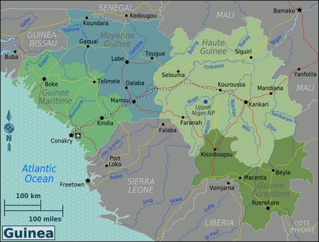 Regionen Guinea