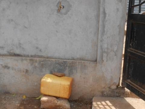 installierte Wasserabgabestelle