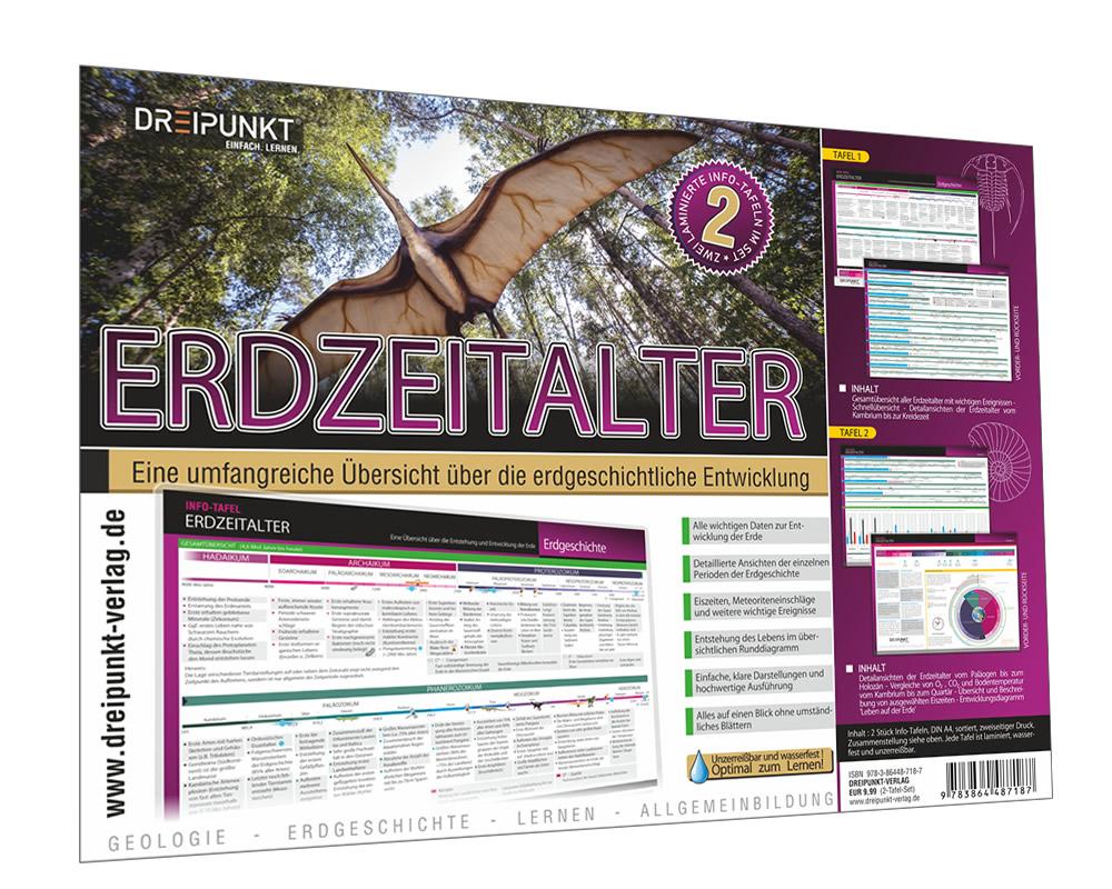 Info-Tafel-Set Erdzeitalter