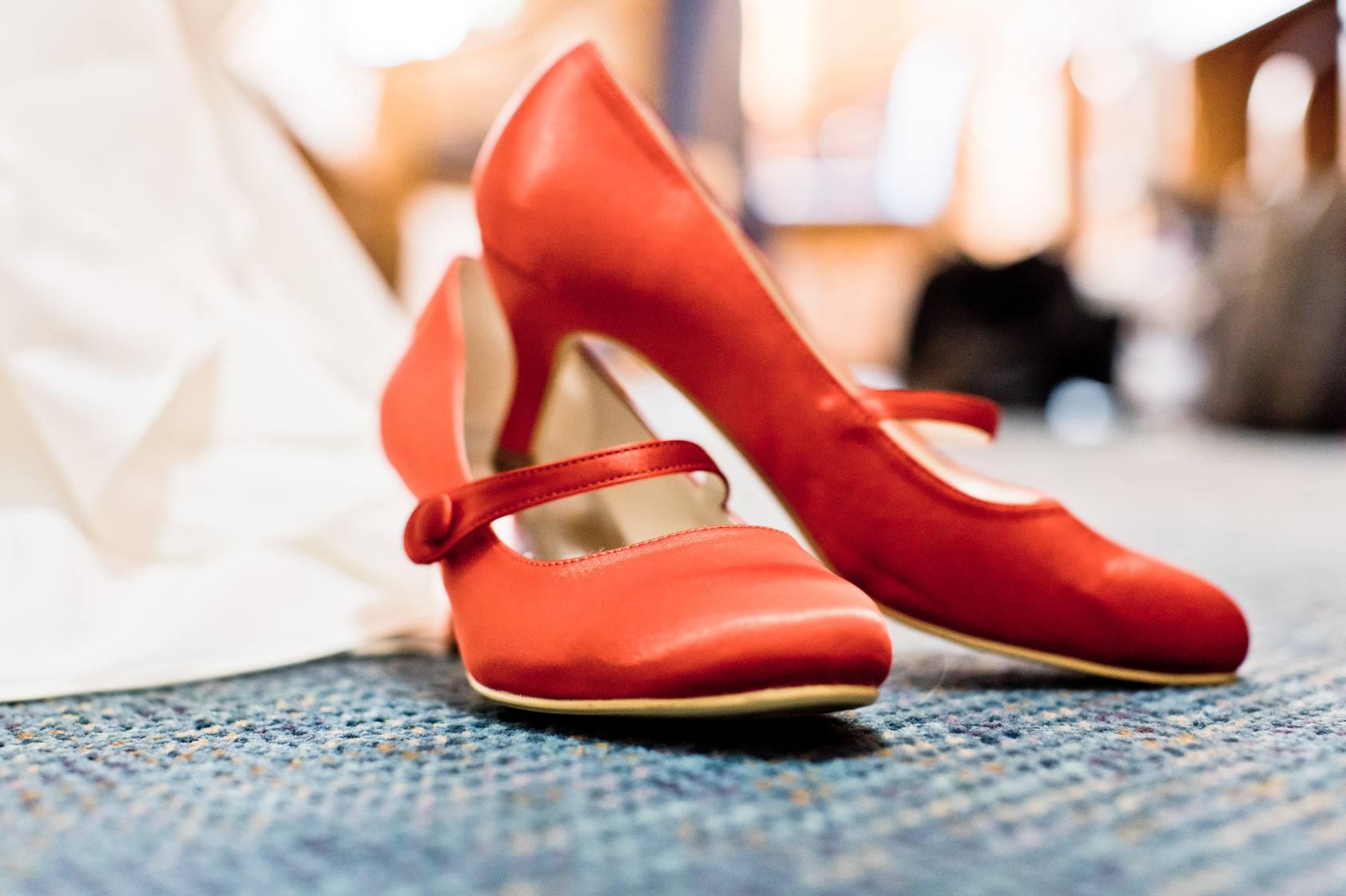 rote Schuhe Hochzeit, hochzeit in rot, heiraten in rot